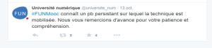 Tweet de France Université Numérique